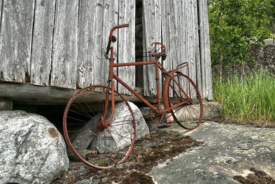 Hylätty polkupyörä
